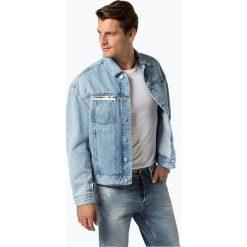 Review - Męska kurtka jeansowa, niebieski. Niebieskie kurtki męskie jeansowe Review, l, z aplikacjami, klasyczne. Za 119,95 zł.