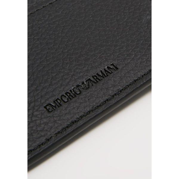 74c8ee4a41ffa Emporio Armani FOLD WALLET Portfel nero - Czarne portfele męskie ...