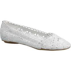 Baleriny damskie lakierowane: baleriny damskie Graceland białe