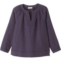 Bluzki asymetryczne: Gładka bluzka, dekolt z pęknięciem, długi rękaw