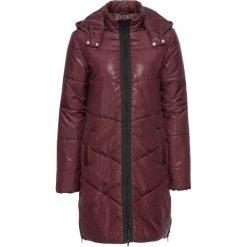 Płaszcz pikowany bonprix bordowo-czarny. Czerwone płaszcze damskie bonprix, na jesień. Za 139,99 zł.