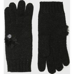 Liu Jo - Rękawiczki. Czerwone rękawiczki damskie marki Liu Jo, z dzianiny. Za 259,90 zł.