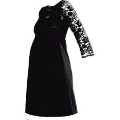 Slacks & Co. SHIRINA NURSING Sukienka koktajlowa black. Czarne sukienki koktajlowe marki Slacks & Co., z bawełny. W wyprzedaży za 551,40 zł.