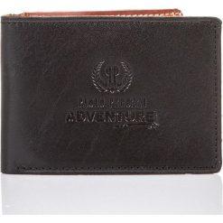 Portfele męskie: Męski skórzany portfel PAOLO PERUZZI Lorenzo Czarno brązowy