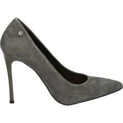 Czółenka - 5043 892 GRIG. Szare buty ślubne damskie Venezia, ze skóry. Za 189,00 zł.