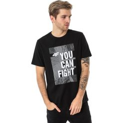 4f Koszulka męska H4L18-TSM013 czarna r. XXL. Czarne koszulki sportowe męskie marki 4f, l. Za 35,90 zł.