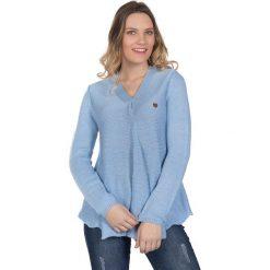 Sweter w kolorze błękitnym. Niebieskie swetry klasyczne damskie marki Giorgio di Mare, xs, z dzianiny. W wyprzedaży za 173,95 zł.