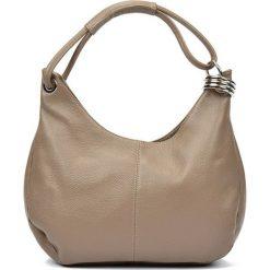 Torebki i plecaki damskie: Skórzana torebka w kolorze fango – (S)39 x (W)28 x (G)3 cm