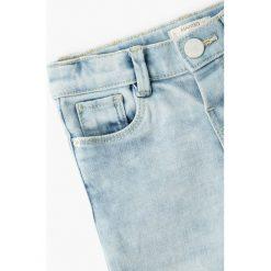 Mango Kids - Jeansy dziecięce Elena 80-104 cm. Niebieskie jeansy dziewczęce Mango Kids, z bawełny. W wyprzedaży za 39,90 zł.