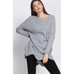 Swetry klasyczne damskie: Szary SweterIntent