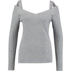 Swetry klasyczne damskie: Banana Republic OFF SHOULDER VEE KLIMA Sweter med grey heather