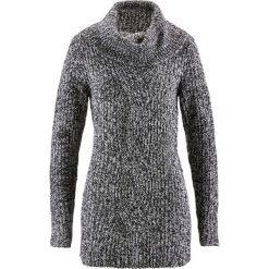 Golfy damskie: Sweter bonprix antracytowy melanż