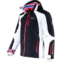 """Kurtka narciarska """"Davos"""" w kolorze czarno-białym. Białe kurtki sportowe męskie Nebulus, m, narciarskie. W wyprzedaży za 431,95 zł."""
