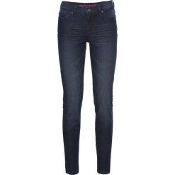 Dżinsy Super SKINNY, krótsze nogawki bonprix ciemny denim. Niebieskie boyfriendy damskie bonprix. Za 59,99 zł.