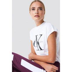 T-shirty damskie: Calvin Klein T-shirt Taka Crew Neck - White