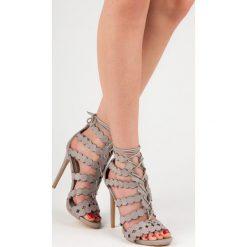 Wiązane sandały na szpilce SOCORRO. Szare sandały damskie marki SEASTAR, na szpilce. Za 109,00 zł.