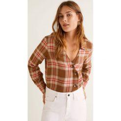 Mango - Koszula Camila. Szare koszule damskie w kratkę Mango, m, ze lnu, z długim rękawem. Za 139,90 zł.