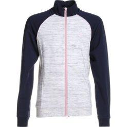 Hummel VICTORIA ZIP JACKET  Bluza rozpinana whisper white melange. Szare bluzy dziewczęce rozpinane marki Hummel, z bawełny. W wyprzedaży za 132,30 zł.