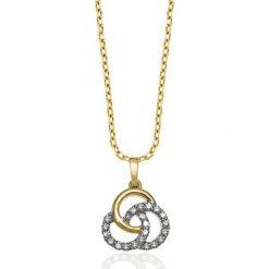 PROMOCJA Wisiorek Złoty - złoto żółte 585, Diament 0,16ct. Żółte łańcuszki męskie W.KRUK, złote. W wyprzedaży za 699,00 zł.