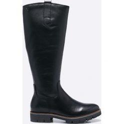 Caprice - Kozaki. Szare buty zimowe damskie Caprice, z materiału, z okrągłym noskiem. W wyprzedaży za 269,90 zł.