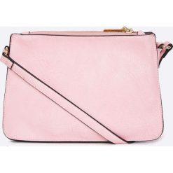 Answear - Torebka. Szare torebki klasyczne damskie marki ANSWEAR, w paski, z materiału, średnie. W wyprzedaży za 69,90 zł.