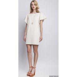 Sukienki hiszpanki: SUKIENKA Z ORYGINALNYMI RĘKAWAMI, SUK104 beż