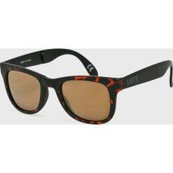 Vans - Okulary VN000UNK1RE1. Brązowe okulary przeciwsłoneczne męskie aviatory Vans, owalne. Za 79,90 zł.