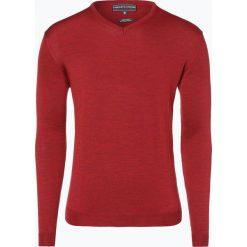 Swetry klasyczne męskie: Finshley & Harding – Sweter męski, czerwony