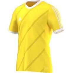 Adidas Koszulka piłkarska męska Tabela 14 żółto-biała r. XXL (F84835). Białe t-shirty męskie marki Adidas, l, z jersey, do piłki nożnej. Za 56,16 zł.