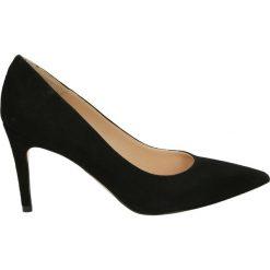 Czółenka - 0954 CAM NERO. Czarne buty ślubne damskie Venezia, ze skóry. Za 349,00 zł.