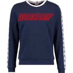 Kardigany męskie: le coq sportif INSPI FOOTBALL CREW NECK Bluza dress blues/new optical white