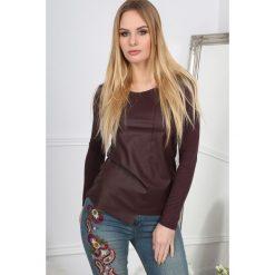 Bluzki damskie: Bordowa Bluzka Asymetryczna  BB20666