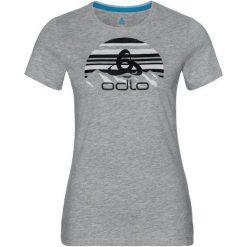 Odlo Koszulka tech. Odlo  TOP Crew neck s/s KUMANO LOGO   - 550091 - 550091/10195/S. Szare t-shirty damskie Odlo, s. Za 82,57 zł.