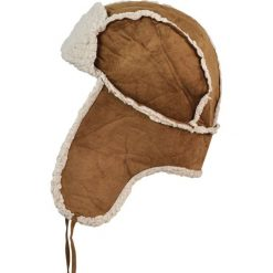 Czapka męska Uszanka Zimowa wyprawa brązowo-ecru. Brązowe czapki zimowe męskie marki Art of Polo, na zimę. Za 37,60 zł.
