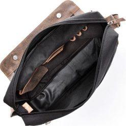 Skórzana męska Torba PAOLO PERUZZI Brązowa. Brązowe torby na laptopa marki Paolo Peruzzi, w paski, ze skóry. Za 219,00 zł.