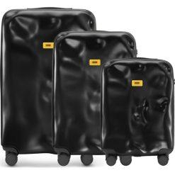 Walizki Icon w zestawie 3 el. matowy czarny. Szare walizki marki Crash Baggage, z materiału. Za 2628,00 zł.