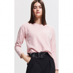 Bluza z koralikami - Różowy. Czerwone bluzy damskie Reserved, l. Za 79,99 zł.