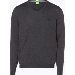 Swetry klasyczne męskie: BOSS Athleisure – Sweter męski – C-Callum_03, szary
