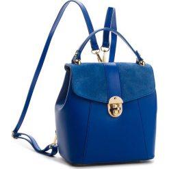 Plecak CREOLE - K10419  Niebieski. Niebieskie plecaki damskie Creole, ze skóry. W wyprzedaży za 189,00 zł.