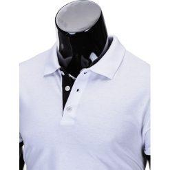 KOSZULKA MĘSKA POLO BEZ NADRUKU S758 - BIAŁA/CZARNA. Zielone koszulki polo marki Ombre Clothing, na zimę, m, z bawełny, z kapturem. Za 39,00 zł.
