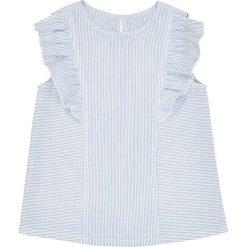 Bluzki dziewczęce bawełniane: Bluzka w paski z falbanami 3-12 lat