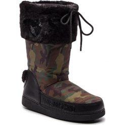 Śniegowce LOVE MOSCHINO - JA24062G06JN0852 St.Camouf/Mili. Czarne buty zimowe damskie Love Moschino, z materiału. Za 659,00 zł.