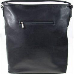 DAMSKA TOREBKA MILTON  SZARY. Szare shopper bag damskie Milton, w paski, ze skóry, na ramię. Za 119,00 zł.