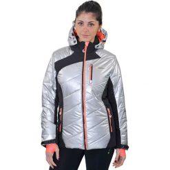 Odzież damska: Kurtka narciarska w kolorze srebrnym