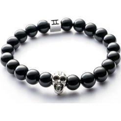 Bransoletki damskie: Bransoletka Gemini Classic Skull Black C1-G