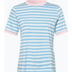 Marie Lund - T-shirt damski, niebieski. Niebieskie t-shirty damskie Marie Lund, xl, w prążki, z bawełny. Za 89,95 zł.