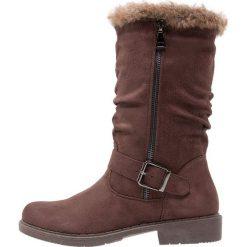 Anna Field Kozaki cognac. Brązowe buty zimowe damskie marki Anna Field, z materiału. W wyprzedaży za 127,20 zł.