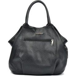 Torebki klasyczne damskie: Skórzana torebka w kolorze czarnym – (S)30 x (W)37 x (G)13 cm