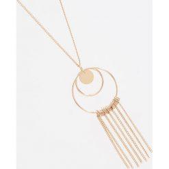 Naszyjniki damskie: Naszyjnik z okrągłą zawieszką – Złoty
