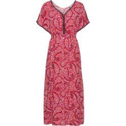 Sukienki: Długa sukienka bonprix czerwony w kwiaty